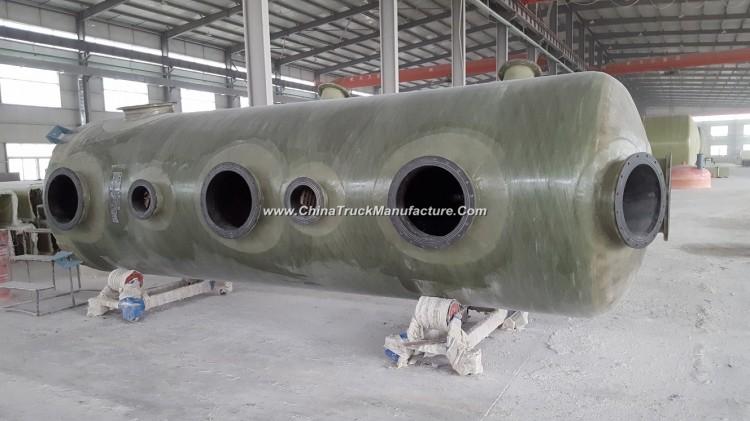 FRP GRP Fiberglass Vertical Chemical Storage Tank Vessel