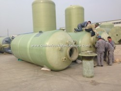 FRP Fiber Glass GRP Vessel Tank Conatiner for Chemical Solution or Water