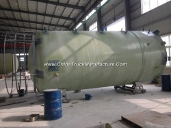 FRP Fiber Glass GRP Tank Conatiner Vessel for Chemical Solution or Water