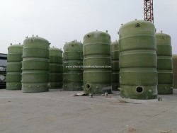 GRP Fiber Glass FRP Vessel Tank Conatiner for Chemical Solution or Water