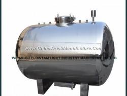 Mirror Polish Horizontal Stainless Steel Storage Tank