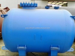 Glass-Lined Horizontal Storage Tank
