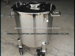 Stainless Steel Single Layer Storage Tank with Wheels