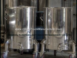 Stainless Steel Mobile Storage Tank Without Insulation