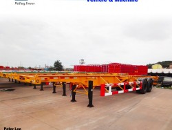 Skeletal Skeleton Chassis Flatbed Platform Container Semi Trailer for Sale