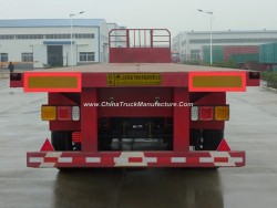 3 Axle 50ton Capacity/Container Transport/Cargo Transport Flatbed Semi Trailer with Twist Lock/China