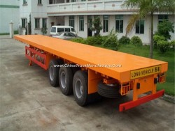 3 BPW Axles 40FT Container Flatbed Semi Trailer