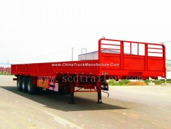 40FT Flatbed Container Semi Trailer with 12 Twist Locks