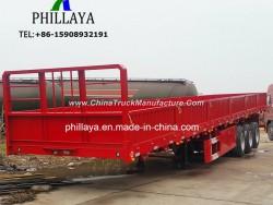 3 Axle Container Bulk Cargo Transport Flatbed Semi Truck Trailer