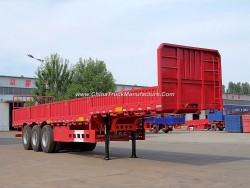 20FT/30FT/40FT Renovated/Renovate Side Wall/Flatbed Semi-Trailer/Turck Trailer with Twist Lock