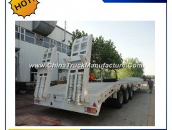 2 Axle 3 Axle 40FT 20FT New 40 Feet Flat Truck Flatbed Container Semi Trailer for Sale