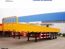 Side Wall Open Flatbed Cargo Semi Trailer