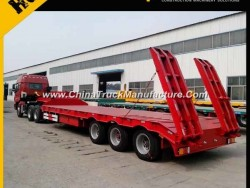 80 Ton 3 Axles Low Bed Semi Trailer
