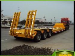 Transporting Heavy Duty Equipment 50 Ton Semi Trailer