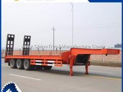 Cimc 3 Axles 40 Ton Lowbed Semi Trailer