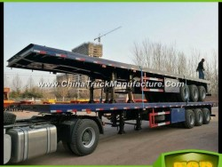 3 Axles/4 Axles Equipment Flat Bed Trailer