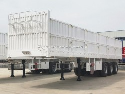 Fiberglass 40 Feet Flatbed Cargo Side Wall Semi Trailer