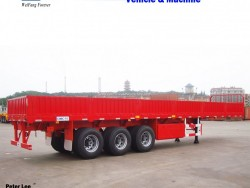 Side Wall Removable Container Cargo Transport Truck Semi Flatbed Trailer