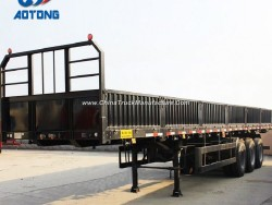 China Good Quality 3axle Flatbed Cargo Trailers/Side Wall Semi Trailer