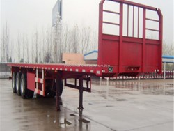 20FT 40FT Container/Utility/Cargo Flatbed/Platform Truck Semi Trailer with 3 Axles