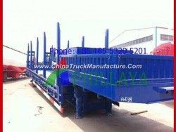 High Bed Flatbed Timber Transport Semi Trailer with Side Posts