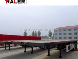 CCC ISO 3 Axle 40FT Flatbed Container Truck Semi Trailer