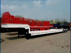 Factory Selling 60t Lowbed Trailer 50t Lowbed Semi Trailer