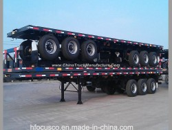 2 Axle 40FT Flatbed Container Semi Trailer for Africa