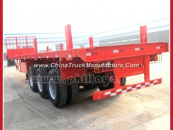 Tri-Axle 20-40FT Wood Logging Post Flatbed Log Semi Trailer