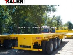 3 Axle 40 FT Flatbed Semi Truck Trailer
