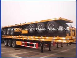 3 Axle 40 Feet High Bed Flatbed Container Semi Trailer
