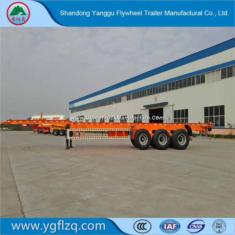 40FT 3axle Flatbed Carrying Container Skeleton Semi-Trailer