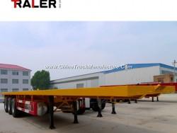 40 FT Tri-Axle Flatbed Container Truck Semi Trailer
