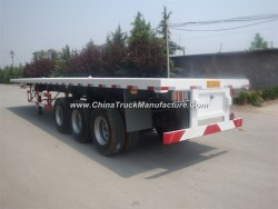Three Axle Low Bed Trailer for 40 Foot Container