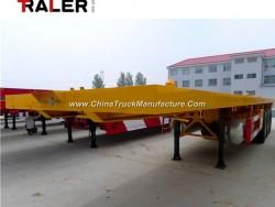 Cimc 40 FT 2/3 Axle Flatbed Container Semi Trailer