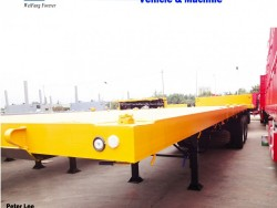 Hot Sale 3 Axles 40 FT Container Flat Bed Utility Semi Trailer