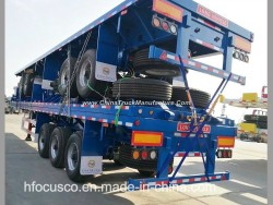1/2/3/4 Fuwa Axles 20FT 40FT Container/Utility/Cargo Flatbed/Platform Truck Semi Trailer