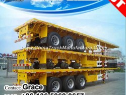 Factory Best Sale 2 Axle or 3 Axles 20feet 40FT 45FT 53FT Flatbed Container Chassis Semi Trailer