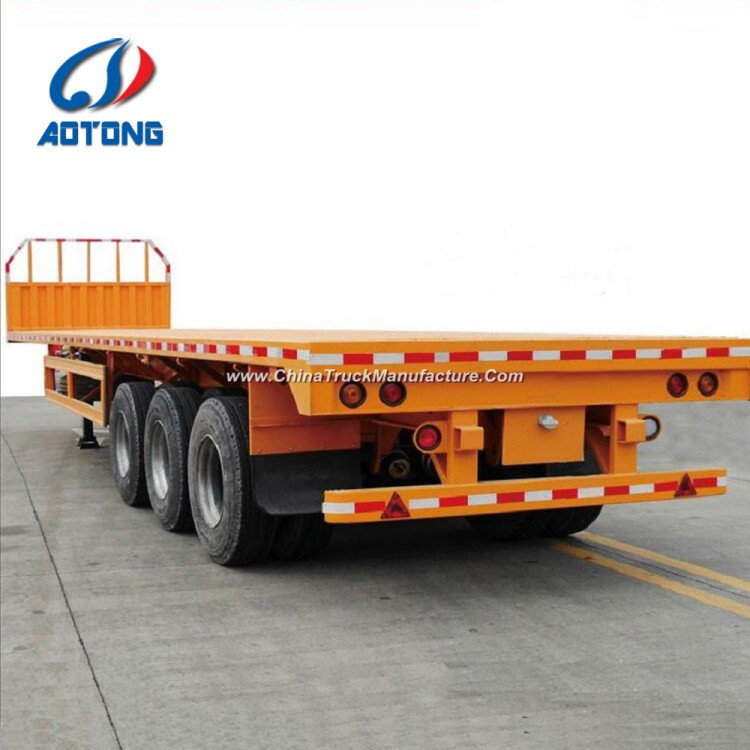 2e2d705c1c Low Price 3 Axle Flatbed Container Semi Trailer for Sale for ...