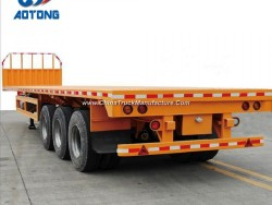 Low Price 3 Axle Flatbed Container Semi Trailer for Sale