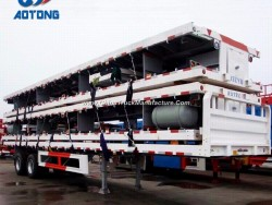 Aotong Brand 40FT Flatbed Container Trailers/Platform Semi Trailer (portal frame optional)