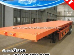 20FT 40FT Flatbed Semi Trailer, Tri-Axle Flatbed Trailer, Container Chassis, Container Trailer, High