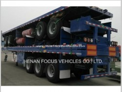 3 Axles Flatbed Container Cargo Utility Platform Heavy Truck Semi Trailer