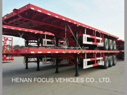20-40FT Container Truck High Bed 3 Axle Flatbed Semi Trailer for Sale