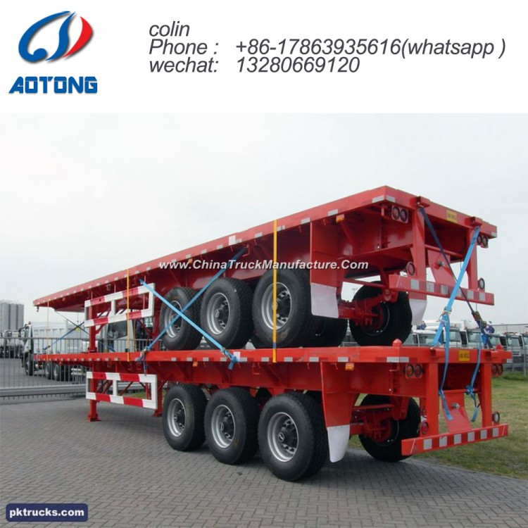 ac9c27235d Hot Sale 3 Axle 40ft Flatbed Semi Trailer for Container for ...