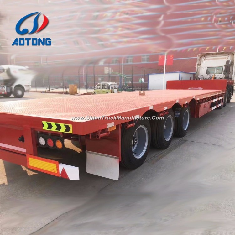 Heavy Duty 40FT Flatbed Container Semi Trailer (12 twist