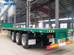 2018 Aotong Brand 40FT Flatbed Container Semi Trailer for Sale