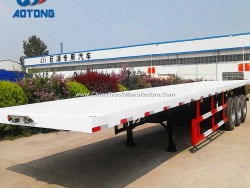 Equipped Container Lock 13m Flatbed Cargo Semi Trailer