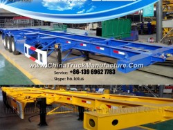 48FT Flatbed Container Semi Trailer, Hot Sale Container Trailer