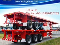 Hot Sale 2 Axles Flatbed Container Semi Trailer